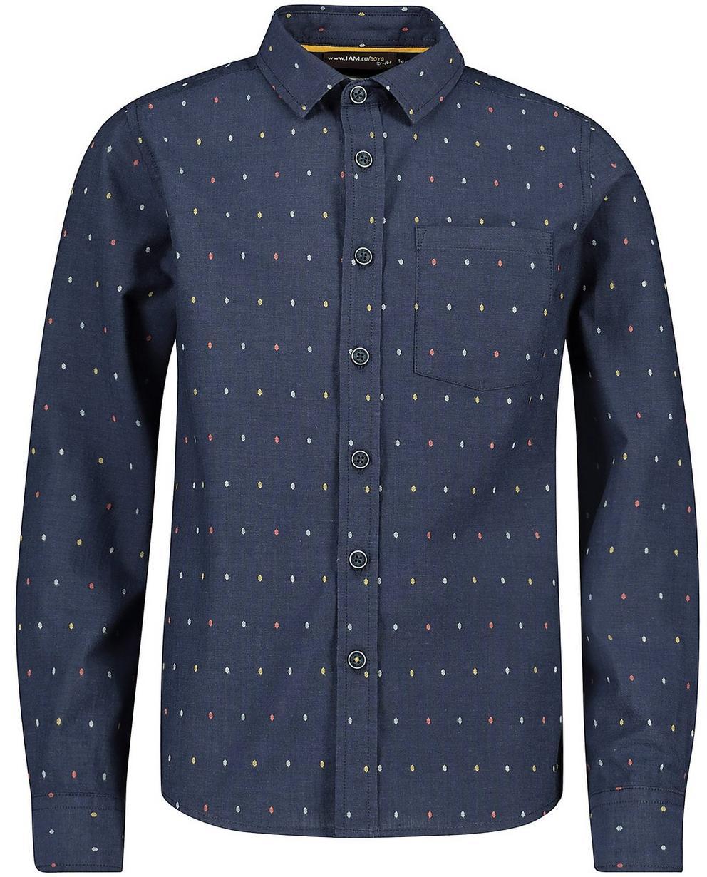 Hemden - Navy - Hemd aus Biobaumwolle mit Stickerei